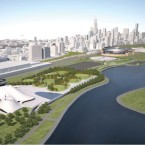 A draft image of what the Lucas Museum would look like on the lakefront.