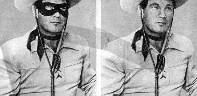 Clayton Moore as the Lone Ranger--pre-digital imagining