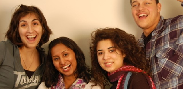 (Left to Right) Isabel Kesheshian, Cia Mathew, Dana Castillo, Jaime Espinoza