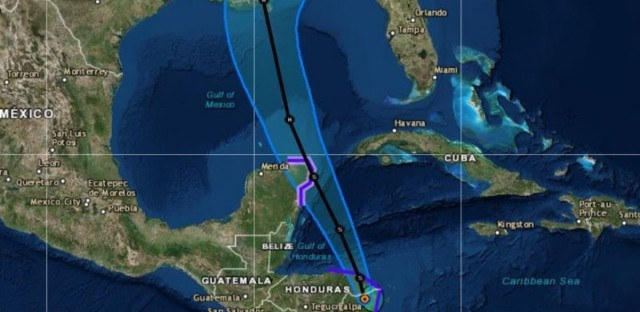Tropical Storm Nate is forecast to hit the Yucatan Peninsula and become a hurricane soon after entering the Gulf of Mexico.