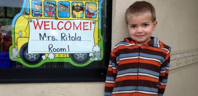 Rhett Krawitt, 6, outside his school in Tiburon, Calif. Seven percent of the children in his school are not vaccinated.