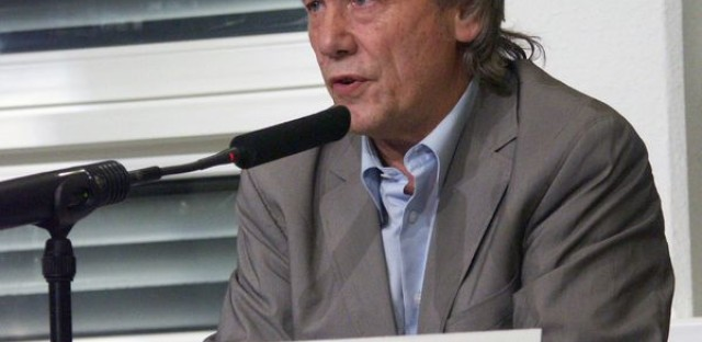 Reiner Braun at a peace and development symposium in February of 2011. Braun will attend a NATO counter-summit this weekend.