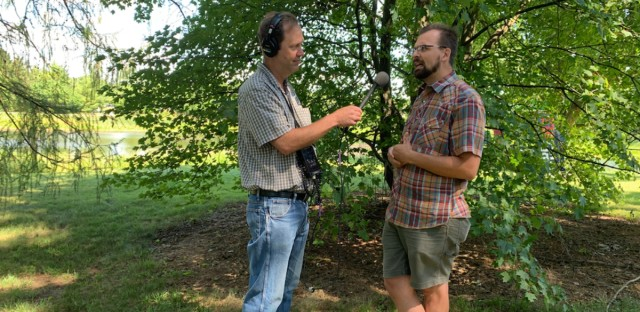 Jerome McDonnell (left) and Robb Telfer at The Morton Arboretum