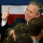 Republican presidential candidate, former Florida Gov. Jeb Bush meets with supporters at his South Carolina Republican presidential primary rally in Columbia, S.C., Saturday, Feb. 20, 2016.