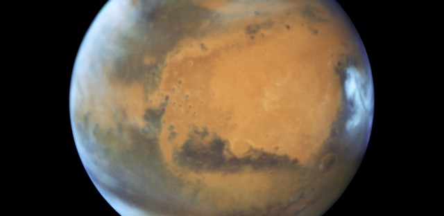 Mars, as photographed by the Hubble Space Telescope this month as Mars and Earth approached opposition.