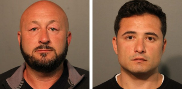 Former Chicago Police Sgt. Eric Elkins, left, and Giovanni Rodriguez face aggravated battery charges stemming from the Sept. 29 altercation.