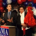 Barack Obama campaigning for Congress in 2000