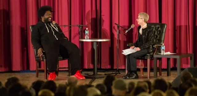 Terry Gross interviews Questlove in front of an audience in Philadelphia.