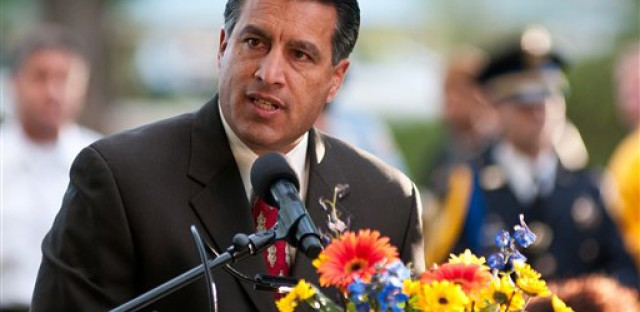 Gov. Brian Sandoval of Nevada is one of the high-ranking Republicans of color being showcased at the GOP convention this week.