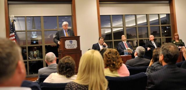 Legislators attend a summit on heroin at Elmhurst College.