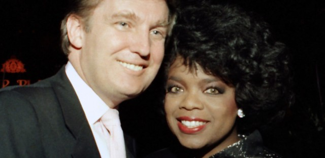 Trump and Oprah Winfrey are pictured together in 1988 in Atlantic City, N.J. Winfrey's name is being floated as a possible presidential candidate.