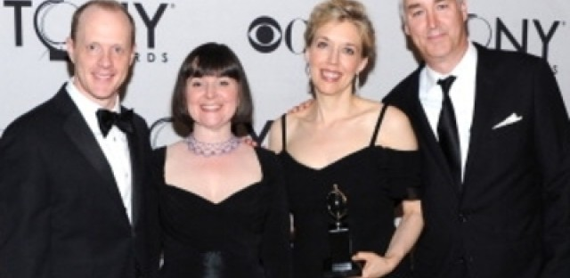 Entire Lookingglass Ensemble--minus one--in New York for Tony Awards