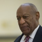 Bill Cosby walks outside the courtroom during a break on the third day of his sexual assault trial in the Montgomery County Courthouse June 7, 2017 in Norristown, Pa.