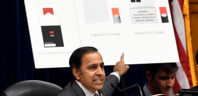 Rep. Raja Krishnamoorthi Leads Congressional Hearing on Vaping Ban