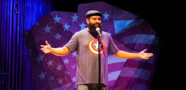 Azhar Usman performs his one-man play 'Ultra American' at Silk Road Rising Theater