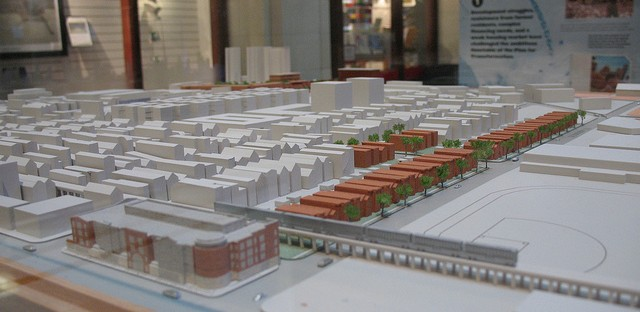 A model of Parkside of Old Town, a mixed income housing complex that replaced some of Cabrini Green