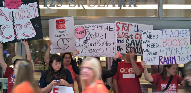 Chicago teachers, parents, students protest budget cuts to schools
