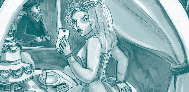 In Mallory Ortberg's modern retelling of Charles Dickens' Great Expectations, Miss Havisham texts wedding dress photos from a blocked number.