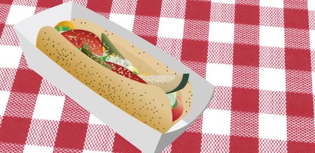 Chicago-style hot dog thumbnail