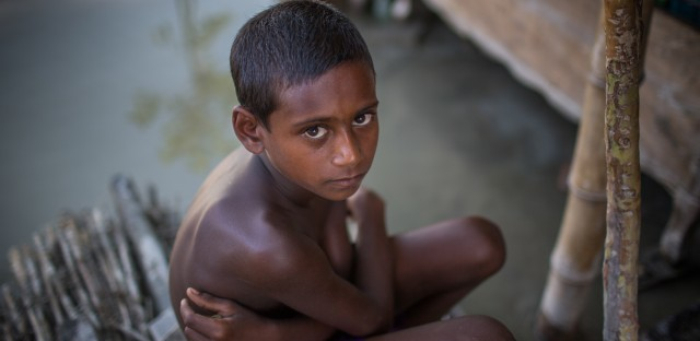 A boy on the outskirts of Bogra, Bangladesh, on Aug. 20.