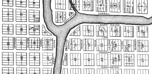 Thompson's 1830 Chicago map