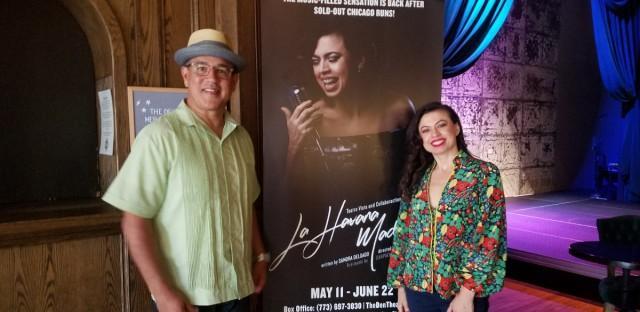 "Mike Oquendo and Sandra Delgado. Delgado wrote and stars in ""La Havana Madrid."" Oquendo plays Tony Quintana, host of the 1960s Chicago radio show ""Tony's Latin-A-Go-Go."""