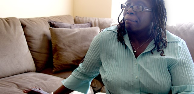 Crystal Palmer in her home,  a $373-per-month, two-bedroom apartment in the Westhaven Annex. She says she wants the same thing in her life that anyone else wants.