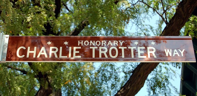Honorary Charlie Trotter Way street sign