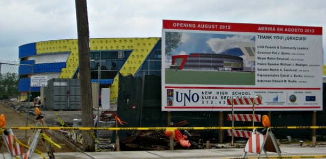 Construction has halted on UNO's Soccer Academy High School. The state has suspended funding to UNO as it investigates other spending from a $98 million grant. UNO announced Tuesday it is turning over construction of the school to a separate nonprofit. It is also shaking up its two boards.