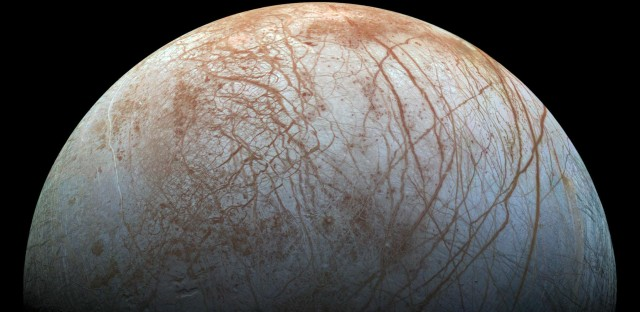 """A visit to Jupiter's moon Europa in the 2020s is among the upcoming NASA missions that have real potential to search for """"biosignatures,"""" or substances that provide evidence of life."""
