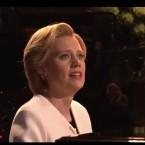 Kate McKinnon, as Hillary Clinton, performs Leonard Cohen's 'Hallelujah.'