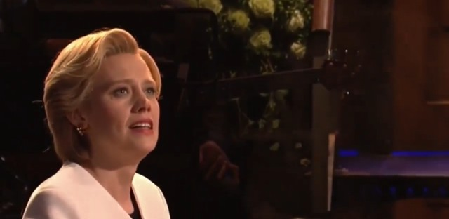 Kate McKinnon, as Hillary Clinton, performs Leonard Cohen's 'Hallelujah.'