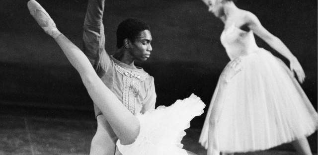 Members of the Dance Theater of Harlem rehearse Swan Lake