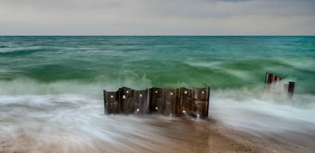 A photo of Lake Michigan from Tim Schroeder's collection