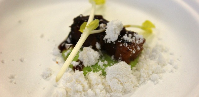 Pork belly adobo by One North chef Will Pagulayan in Chicago