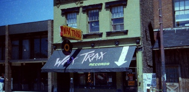 Wax Trax record store on Lincoln Avenue was central to the rock, punk and industrial music scenes in Chicago in the 1980s.