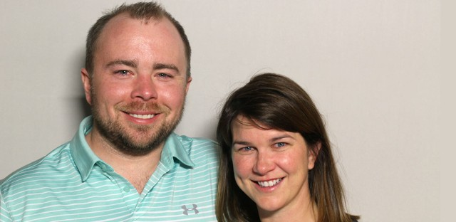 Liz and Graeme Wilson visited the StoryCorps booth in Chicago Cultural Center.