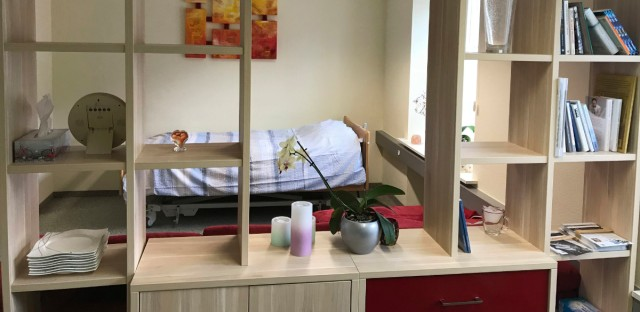Picture shows a room in Liestal near Basel, Switzerland, where 104-year-old Australian scientist David Goodall plans to end his life on Thursday, May 10, 2018. Swiss law currently allows assisted suicide for anyone who acknowledges in writing that they are taking their lives willingly — without being forced. The practice is frowned upon by many doctors and others who say it should be reserved for the terminally ill.