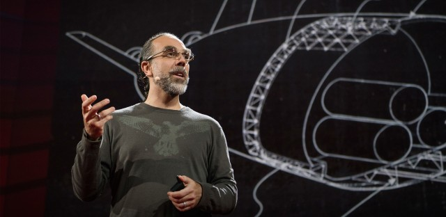 Astro Teller on the TED Stage.