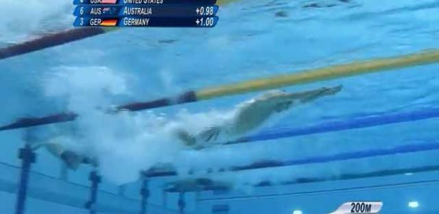 Conor Dwyer, underwater.