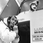 Gene Cernan prepares for his 1969 Apollo 10 flight,