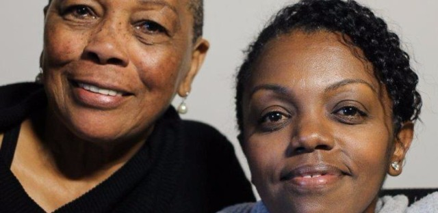 Sarah Churchill and her daughter Yomi Wrong at their StoryCorps interview in San Francisco.