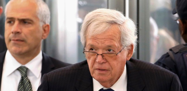 In this June 9, 2015 file photo, former U.S. House Speaker Dennis Hastert arrives at the federal courthouse in Chicago for his arraignment on federal charges in his hush-money case.