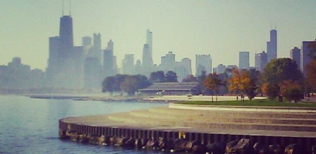 A view of downtown Chicago.
