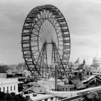 The Ferris wheel at the 1893 World's Fair in Chicago.