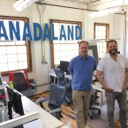 Jerome McDonnell (left) with CANADALAND's Jesse Brown in the CANADALAND offices in Toronto.