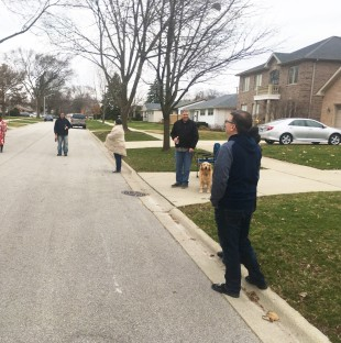 "Neighbors in Mt. Prospect began doing ""Driveway Happy Hours"" in order to keep socializing during the coronavirus pandemic — at a safe social distance."