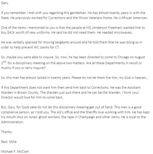 McClain's Email
