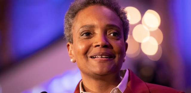 In a WBEZ interview, Mayor-elect Lori Lightfoot, shown here on Election Night, describes her trip to the nation's capital, including sit-downs with Ivanka Trump and Nancy Pelosi.
