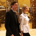 Jared Kushner, the son-in-law of President-elect Donald Trump, walks through the lobby of Trump Tower with his wife Ivanka on November 18, 2016 in New York City.